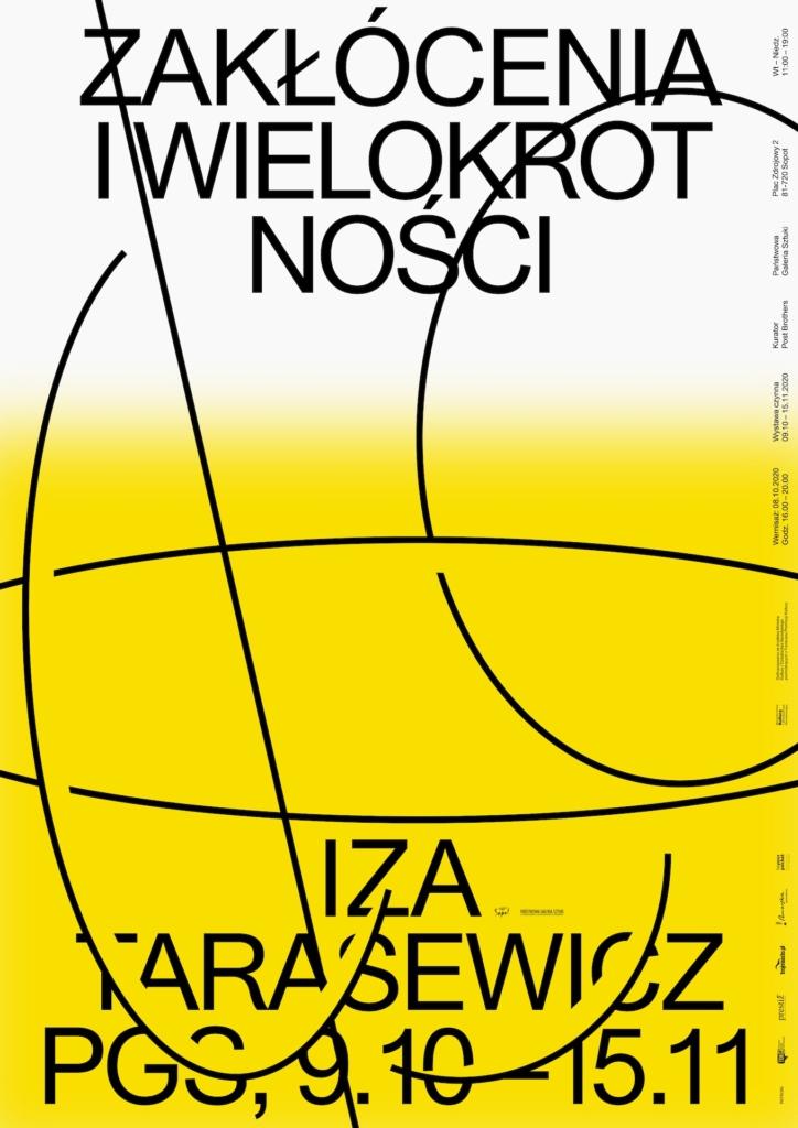 Iza Tarasewicz. Zakłócenia i wielokrotność. 2020 - plakat